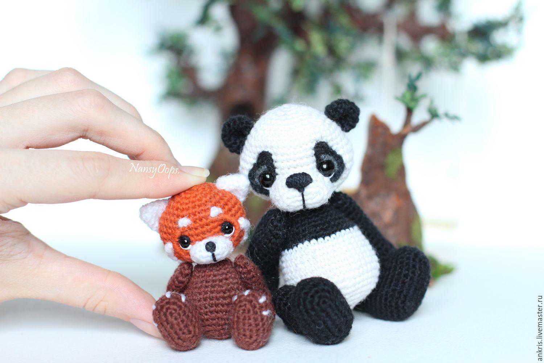 Вязание игрушки панды крючком 56