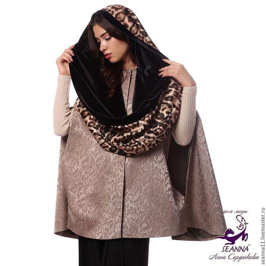 Дизайнер Анна Сердюкова (Дом Моды SEANNA).  Снуд, шарф, хомут двусторонний `Ягуарово-бархатный`. Безразмерный. Цена - 3950 руб.