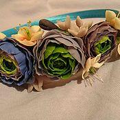 Украшения ручной работы. Ярмарка Мастеров - ручная работа Ободок с цветами. Handmade.