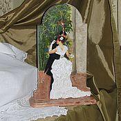 """Часы ручной работы. Ярмарка Мастеров - ручная работа Часы каминные """"Ренуар. Танец в городе."""". Handmade."""