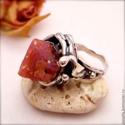 """Кольца ручной работы. Ярмарка Мастеров - ручная работа. Купить Кольцо """"Rosa Salvaje"""" - кристалл шпинели, серебро. Handmade."""