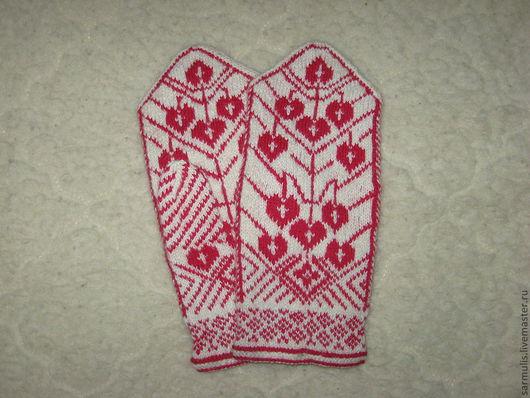Варежки, митенки, перчатки ручной работы. Ярмарка Мастеров - ручная работа. Купить cimdi 100 % vilna. Handmade. Белый