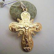 Крест православный биметалл (золото 585 пробы, серебро 925 пробы)