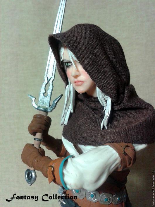 Коллекционные куклы ручной работы. Ярмарка Мастеров - ручная работа. Купить Цири Ведьмак 3. Handmade. Игровые, ведьмак, глина
