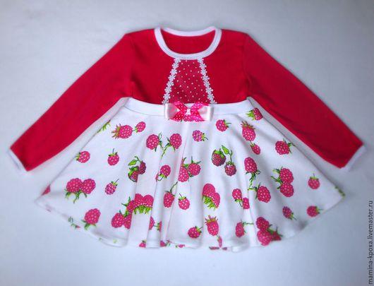 """Одежда для девочек, ручной работы. Ярмарка Мастеров - ручная работа. Купить Платье """"Малинка"""". Handmade. Комбинированный, платье для девочки"""