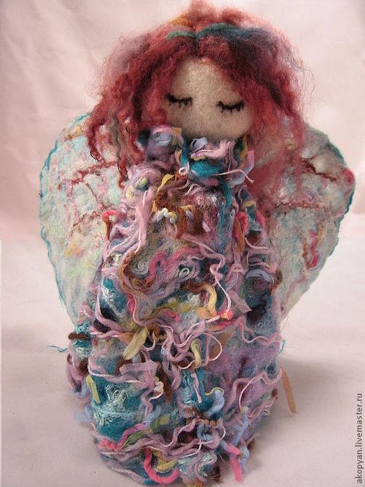 Сказочные персонажи ручной работы. Ярмарка Мастеров - ручная работа. Купить Радужный ангел. Handmade. Ангел, фигурки ангелов, шерсть