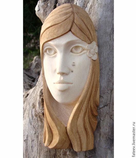Интерьерные  маски ручной работы. Ярмарка Мастеров - ручная работа. Купить Девушка с цветком. Handmade. Бежевый, лицо девушки