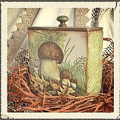 """Для дома и интерьера ручной работы. Ярмарка Мастеров - ручная работа короб"""" Грибные места"""". Handmade."""