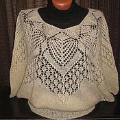 Одежда ручной работы. Ярмарка Мастеров - ручная работа Ажурная блуза из мохера. Handmade.