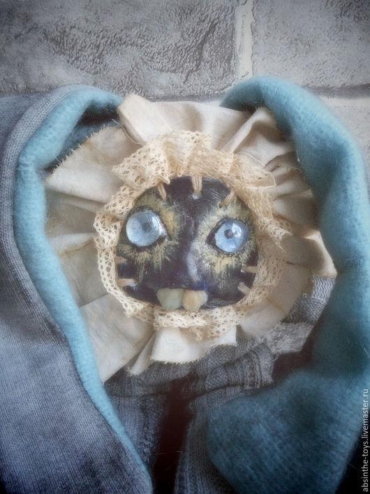 Ароматизированные куклы ручной работы. Ярмарка Мастеров - ручная работа. Купить Пыльник. Handmade. Серый, пыльный кролик, талисман, кружево