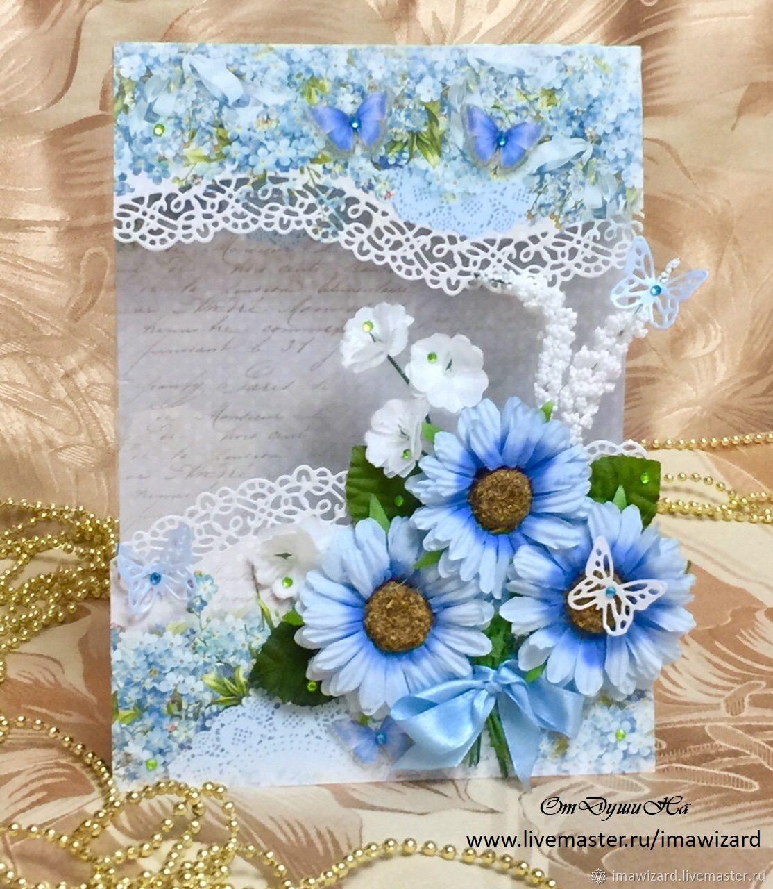 Открытка на день рождения,на юбилей, свадьбу ручной работы, Открытки, Тюмень,  Фото №1