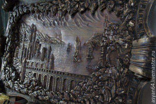 Пейзаж ручной работы. Ярмарка Мастеров - ручная работа. Купить настенное панно 2. Handmade. Панно на стену, липа