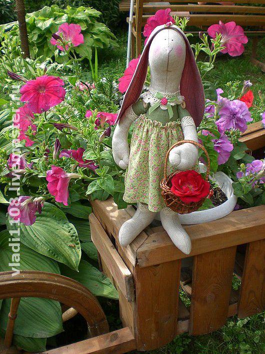 Куклы Тильды ручной работы. Ярмарка Мастеров - ручная работа. Купить Зайчиха Розмари. Handmade. Тильда заяц, интерьерная игрушка