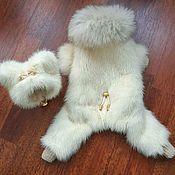 Одежда для питомцев ручной работы. Ярмарка Мастеров - ручная работа Комбинезон из норки для маленьких собачек. Handmade.