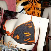 Одежда ручной работы. Ярмарка Мастеров - ручная работа купальник тигрица. Handmade.