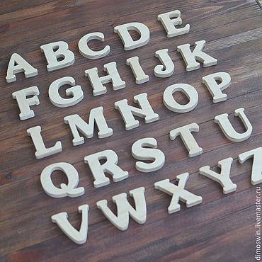 Куклы и игрушки ручной работы. Ярмарка Мастеров - ручная работа Алфавит английский из дерева. Handmade.