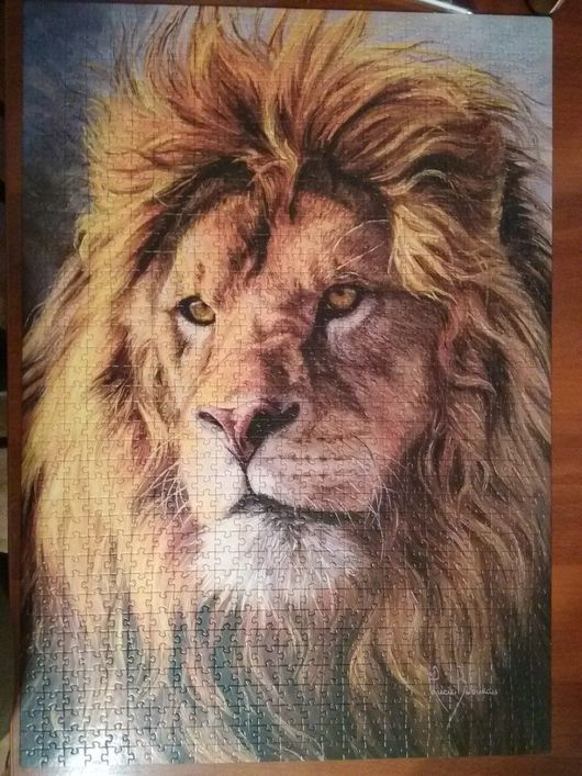 """Животные ручной работы. Ярмарка Мастеров - ручная работа. Купить Картина-пазл """"Царь зверей"""". Handmade. Картина, комбинированный, клей"""