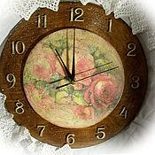 """Для дома и интерьера ручной работы. Ярмарка Мастеров - ручная работа Часы настенные  """"Время пить чай"""". Handmade."""