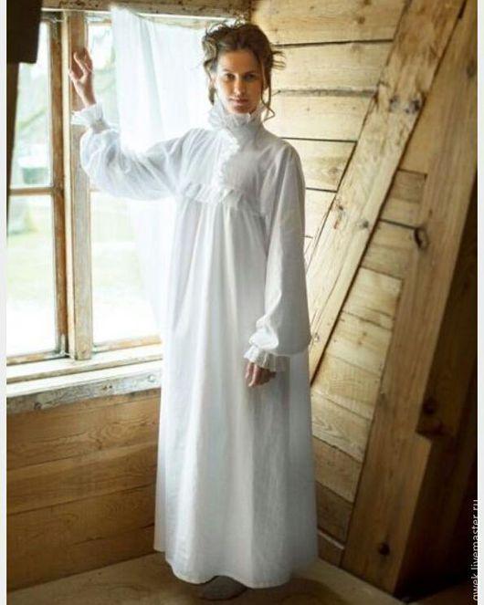 Одежда ручной работы. Ярмарка Мастеров - ручная работа. Купить Женская Крестильная рубашка Надежда. Handmade. Белый, хлопок, храм