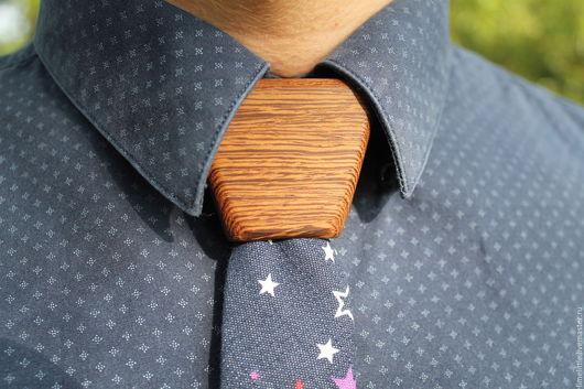 Галстуки, бабочки ручной работы. Ярмарка Мастеров - ручная работа. Купить Мужской деревянный галстук Космическая Джинса. Handmade.