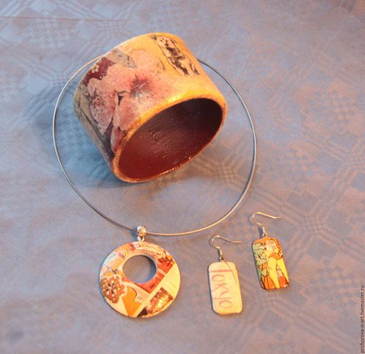 """Комплекты украшений ручной работы. Ярмарка Мастеров - ручная работа. Купить """"Япония"""", комплект украшений. Handmade. Комбинированный, подарок женщине"""