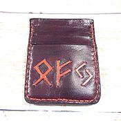 Фен-шуй и эзотерика handmade. Livemaster - original item Leather cardholders Runes. Handmade.