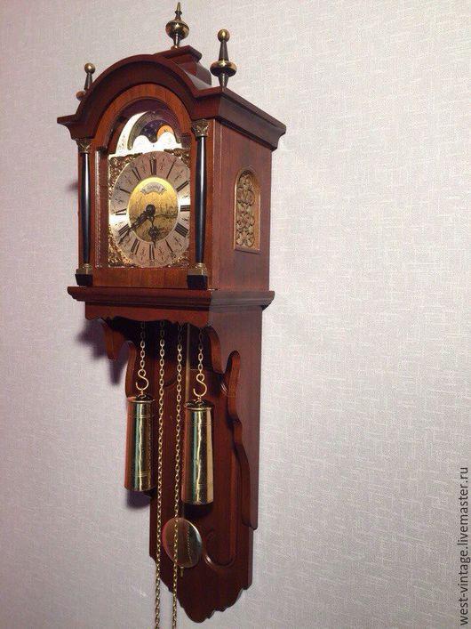 Винтажные предметы интерьера. Ярмарка Мастеров - ручная работа. Купить Настенные часы с лунным календарем Warmink, механизм Wuba. Handmade.