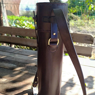 Bags and accessories handmade. Livemaster - original item The leather sheath mod.5, protective, for weapon optics. Handmade.