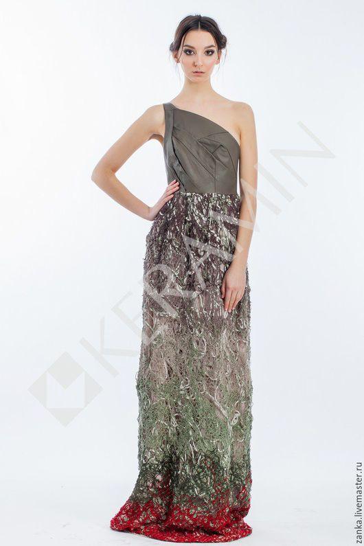 """Платья ручной работы. Ярмарка Мастеров - ручная работа. Купить Платье """"Crazy-wool"""". Handmade. Разноцветный, платье для выпускного"""