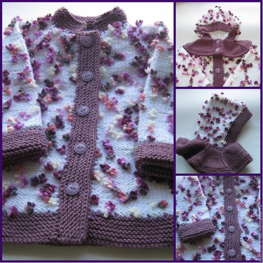 Одежда для девочек, ручной работы. Ярмарка Мастеров - ручная работа. Купить Пальто вязаное детское шерсть Цветочная поляна. Handmade.