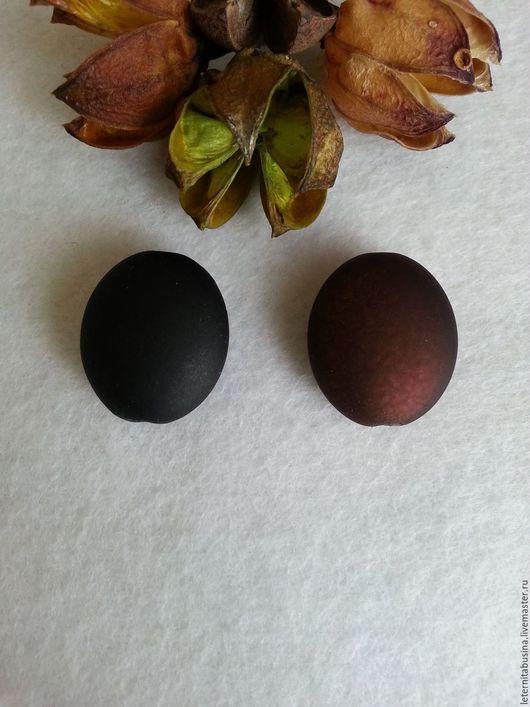 Для украшений ручной работы. Ярмарка Мастеров - ручная работа. Купить Бусины матовые черные и коричневые. Handmade. Черный