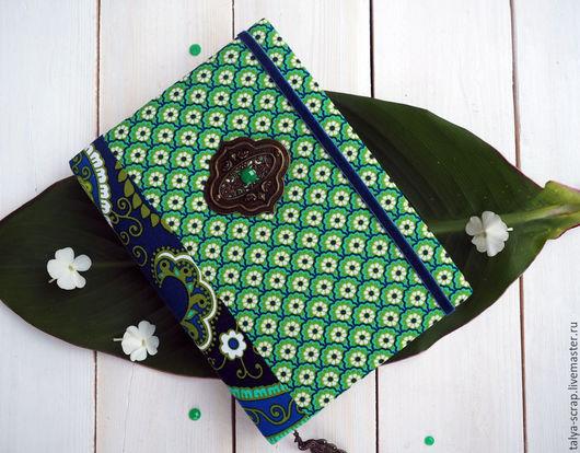 """Блокноты ручной работы. Ярмарка Мастеров - ручная работа. Купить Блокнот ручной работы """"Изумрудный павлин"""". Handmade. Зеленый"""