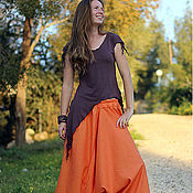 Одежда ручной работы. Ярмарка Мастеров - ручная работа Комплект Aфгани оранжевые и топ на выбор. Handmade.