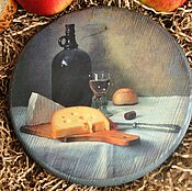 Для дома и интерьера ручной работы. Ярмарка Мастеров - ручная работа Сырная доска Натюрморт с сыром. Handmade.
