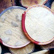 Для дома и интерьера ручной работы. Ярмарка Мастеров - ручная работа Мочалка натуральная  из шерсти. Handmade.