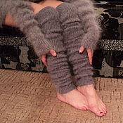 Аксессуары handmade. Livemaster - original item Long leggings feather. Handmade.