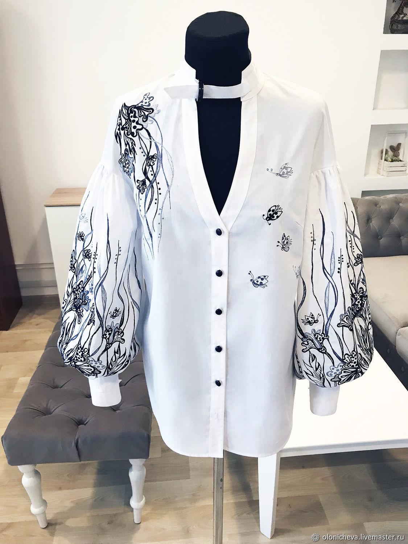 """Вышитая блуза """"Крылья бабочки-2"""" женская вышиванка, блуза с вышивкой, Блузки, Винница,  Фото №1"""