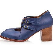 Обувь ручной работы. Ярмарка Мастеров - ручная работа Skylight. Винтажные кожаные туфли для весны и осени.. Handmade.