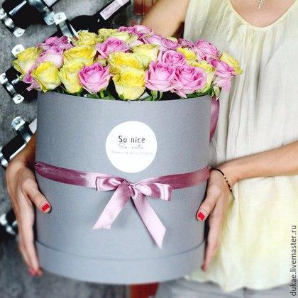 Как сделать шляпную коробку для цветов своими