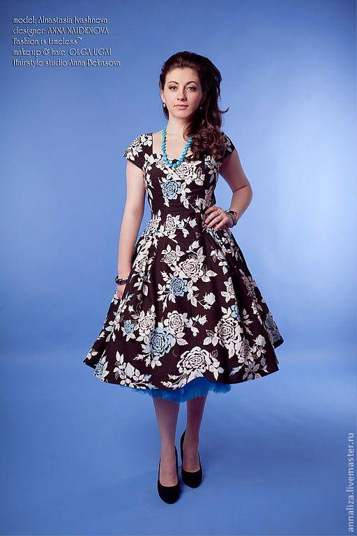 Платья ручной работы. Ярмарка Мастеров - ручная работа. Купить Платье в стиле 50-х годов. Handmade. Платье коктейльное