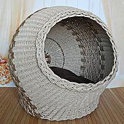 """Для домашних животных, ручной работы. Ярмарка Мастеров - ручная работа Кошкин дом шар """"Капучино"""", плетеный.. Handmade."""