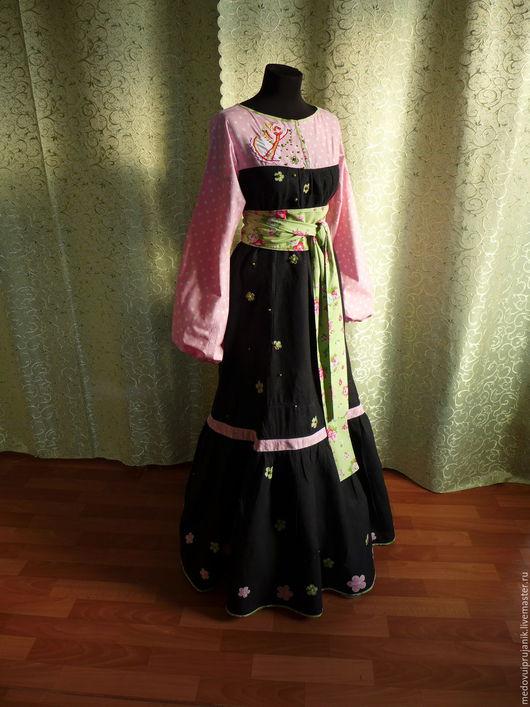 Платья ручной работы. Ярмарка Мастеров - ручная работа. Купить НБ-010 Люкс-платье льняное Благословение Макоши. Handmade.