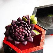 Украшения handmade. Livemaster - original item Brooch Dahlia eggplant color. Handmade.