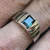 Украшения handmade. Livemaster - original item Silver ring with rare Tourmaline Indigolite 1,67 ct handmade. Handmade.