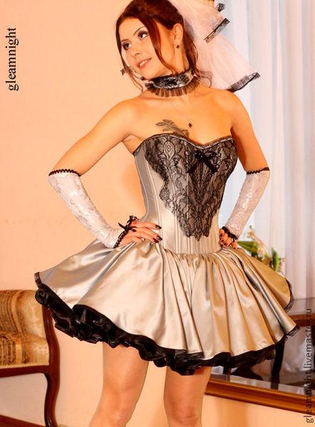 Одежда и аксессуары ручной работы. Ярмарка Мастеров - ручная работа. Купить Свадебное платье в стиле Лолита. Handmade. Серый