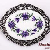 Украшения handmade. Livemaster - original item Brooch White nights (Violet). Handmade.