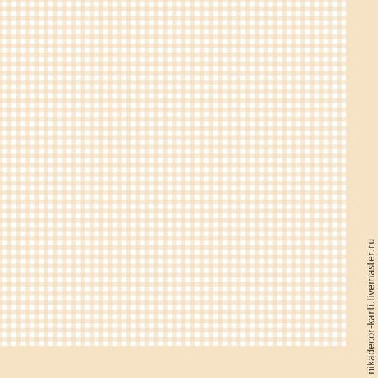 Декупаж и роспись ручной работы. Ярмарка Мастеров - ручная работа. Купить Мелкая клетка на бежевом (SLOG022109) - салфетка для декупажа. Handmade.