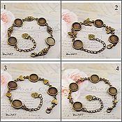 Материалы для творчества handmade. Livemaster - original item The basis for the bracelet 12-14 mm. Art.OB10. Handmade.