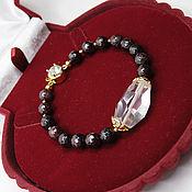 Украшения handmade. Livemaster - original item Bracelet Natural garnet stones gold Plated. Handmade.