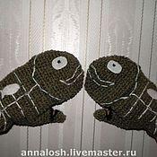 """Аксессуары ручной работы. Ярмарка Мастеров - ручная работа Варежки-перчатки """"Ловись, рыбка!"""". Handmade."""
